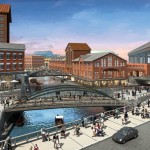 CONCEPT RENDERING OF BUFFALO'S PLANNED ERIE CANAL REDEVELOPMENT. (COURTESY EE&K A PERKINS EASTMAN COMPANY)