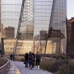 HUDSON YARDS VIEWED FROM THE HIGH LINE. (COURTESY KPF)