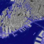 WORST-CASE FLOOD PROJECTION FOR LOWER MANHATTAN. (VIA WNYC)
