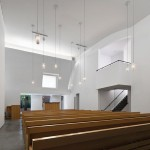 The sanctuary with oak benches. (Michael Moran)