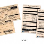 A DESIGN COMPARISON OF A DELIVERY NOTICE FROM THE U.S. POSTAL SERVICE. (COURTESY TOUCHPOINT)