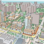 A CONCEPTUAL RENDERING ILLUSTRATING HOW THE SPURA SITE COULD BE REDEVELOPED. (COURTESY NYCEDC)